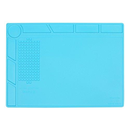 MYMM Antistatische en hittebestendige soldeermat, silicone soldeermat hittebestendig, voor het solderen van strijkijzer, telefoon en computerreparatie, onderhoudsplatform BGA soldeerbout bij hoge temperatuur rubberen mat