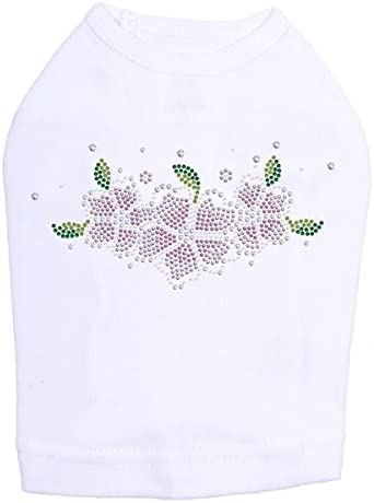 Pink New product Flowers Inventory cleanup selling sale - Dog L White Shirt