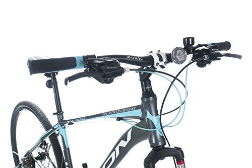 KRON TX-100 Aluminium Mountainbike 28 Zoll   21 Gang Shimano Kettenschaltung mit Scheibenbremse   18 Zoll Rahmen MTB Erwachsenen- und Jugendfahrrad   Grau Blau - 5