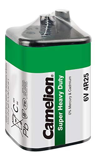 Camelion 10100125 Super Heavy Duty Batterie (4R25, 6 Volt Block, 7 Ah, SP1, geeignet für Baustellenlampe) grün