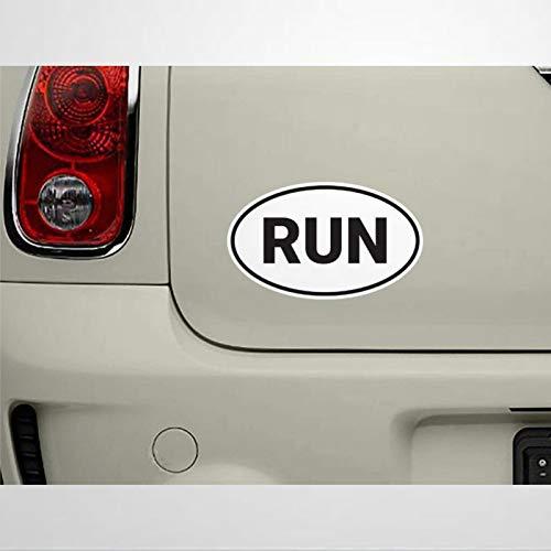 Ejecutar Oval Sticker Run Bumper Sticker Run Car Sticker Running Sticker Ejecutar Etiqueta Engomada Maratón Pegatina Ventana Calcomanía Vinilo Die Cut Calcomanías Divertidas para Portátil myf017