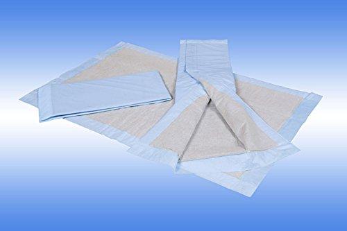100 Stück 60 x 90 cm 6-lagig Zellstoff Krankenunterlagen Wickelunterlagen Inkontinenz blau 100 Stück
