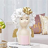 置物動物の彫像の装飾品北欧の創造的なキャラクターの彫像の工芸品ホームオフィスレストランテーブルの装飾の贈り物人間の頭の彫刻の装飾