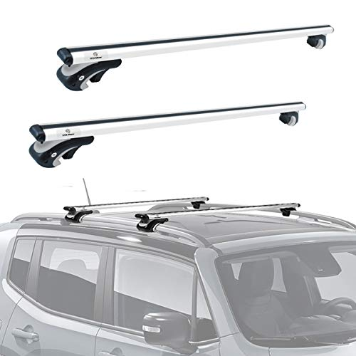 YITAMOTOR 54' Universal Roof Rack Cross Bars, Adjustable Aluminum Cargo Carrier Rooftop Luggage Crossbars for Car Vehicles SUVs with Existing Raised Side Rails with a Gap