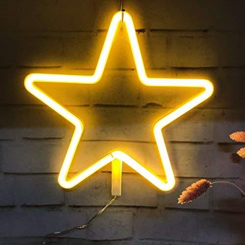 Luce al Neon, Luce Decorativa a Forma di Segno a Stella a LED, Decorazione Murale per Natale, Festa...