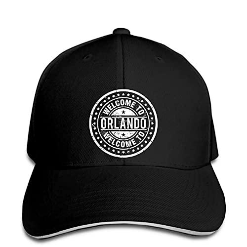 FOMBV Gorra de béisbol para Hombres diseño de la Ciudad de Orlando Estados Unidos Florida State Welcome Snapback Hat alcanzó su Punto máximo Ajustable Regalo de Gorra de Visera Deportes al Aire Libre