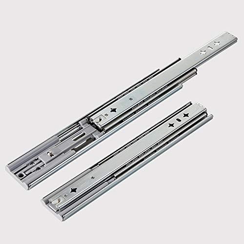 LYQQQQ Diapositivas de cajón de Cierre Suave 10-24 Pulgadas Tri-Plegado Cojinete de Bolas de extensión Completa 25-60 cm (Size : 16in (400mm))