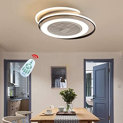 dtkmkj Ventilatore Silenzioso Invisibile, 55 W, Luce del Ventilatore da soffitto a LED Moderna e Semplice, Illuminazione Regolabile della velocità del Vento