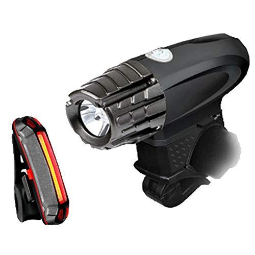 FAPROL fietslamp met gratis achterlicht, USB-oplaadbaar 1200 mAh 200 lumen 360 ° verstelbaar lichtstatief waterdicht
