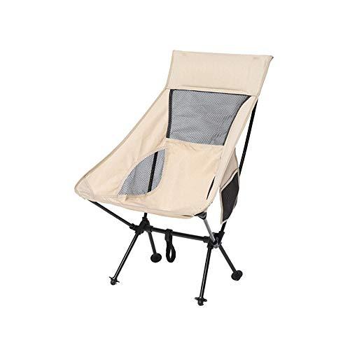 LHTCZZB Silla de pesca plegable portátil Paño Oxford + Material de aleación de aluminio Anti-patín reforzado impermeable y transpirable Adecuado para silla de camping al aire libre para el hogar Silla