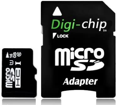 Digi-Chip HIGH SPEED 16GB UHS-1 CLASS 10 MICRO-SD MEMORY CARD FOR Samsung Galaxy Express I8730, Y Plus S5303, Trend II Duos S7572, S7570, GT-S7572, GT-S7570, Win I8550, I8552, Pocket Neo S5310, GT-S5312, Star S5280, S5282, Exhibit T599, Light, Star Pro S7