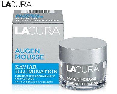 Lacura Augen Mousse Kaviar Illumination Inhalt: 15ml Luxuriöse und hochwirksame Spezialpflege für straffe und geglättete Augenpartie.