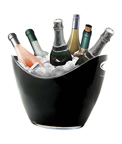 Vin Bouquet FIE 007 Secchiello Portaghiaccio per 6 Bottiglie, Nero