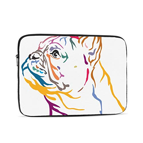 Laptop Computer and Shockproof Bag Computer/Ipad/iPhone Liner Bag Colorful Portrait French Bulldog 460 15 Inch