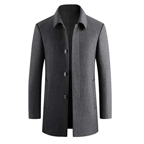 Hotopick Duffle mantel heren casual trenchcoat winkel lange slanke jas jas zwart winter mannen outwear jassen heren lange winterjas mantel heren lang parka winter