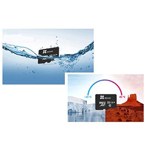 EZVIZ Micro-SD-Karte, passt perfekt zu EZVIZ WLAN-Kameras für innen und außen, 32GB, UHS-I Klasse 10, 90 Mbit/s Lesegeschwindigkeit, wasserdicht und stoßfest, Betriebsbedingung -25°C bis 85°C