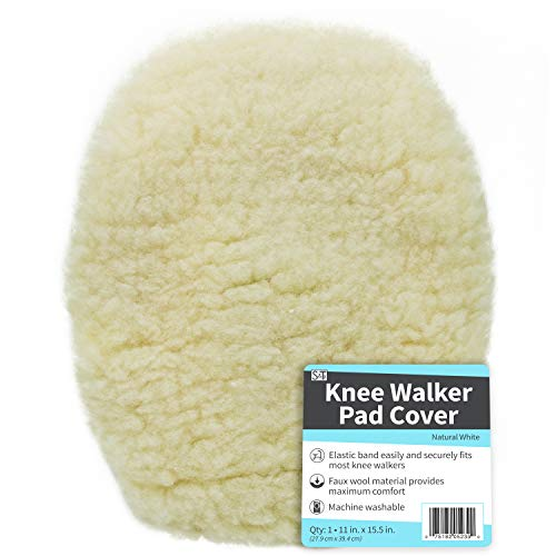 Sale!! ST 523901 Universal Knee Walker Pad Cover - Natural White