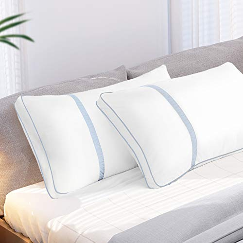 BedStory Pillows for Sleeping 2 Pack King Size, Hotel Quality Bed Pillow, Down Alternative Sleep Pillows with Ultra Soft Fiber Fill, Good for Back and Side Sleepers - Blue