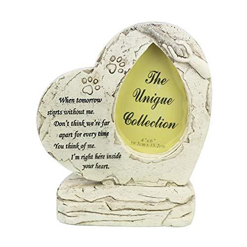 ReTink Placa de lápida para mascotas con imagen de perro para tumba, placa resistente para interior y exterior