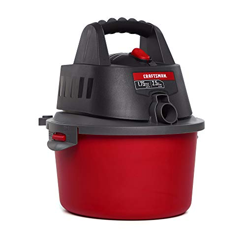 CRAFTSMAN CMXEVBE17250 2.5 gallon 1.75 Peak Hp Wet/Dry Vac, Portable Shop Vacuum with Attachments