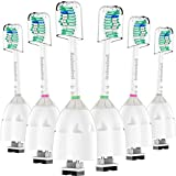 Jiuzhoudeal Replacement Toothbrush Heads Compatible with Phillips Sonicare E-Series HX7022/66, Essence, Elite, Advance, CleanCare Screw-on Electric Brush Handles, 6 Pack