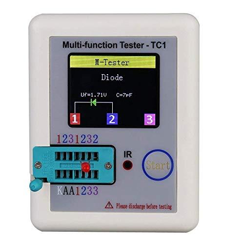 DollaTek 1.8inch Bunte Display Pocketable Multifunktionale TFT Hintergrundbeleuchtung Transistor LCR-TC1 Tester für Diode Triode Kondensator Widerstand Transistor LW21