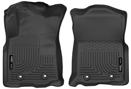 Husky Liners 13981 Fits 2018-19 Toyota Tacoma Double Cab/Access Cab - Standard Transmission Weatherbeater Front Floor Mats , Black