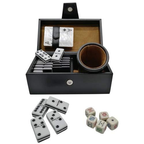 Heroland Casino Curpiel de Lujo Baraja Poker Cubilete Domino