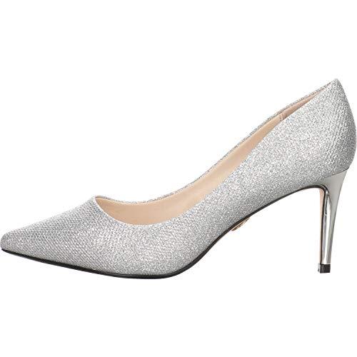 Buffalo Damen High-Heel-Pumps Fanny 2 Silber Synthetik 38