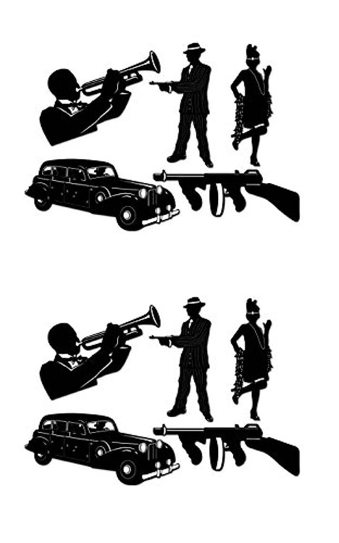 Beistle S57485AZ2, 10 Piece Gangster Silhouettes, 19.5'' - 25'' (Black/White)