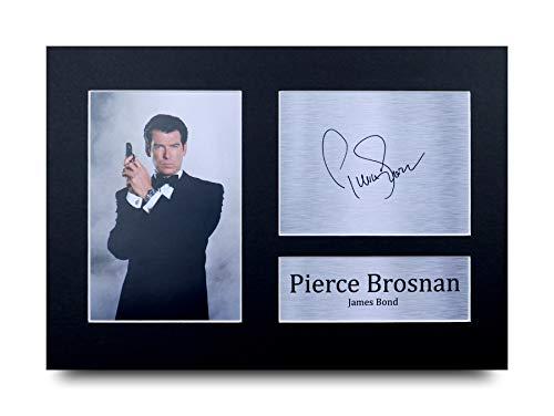 HWC Trading Pierce Brosnan A4 Ungerahmt Signiert Gedruckt Autogramme Bild Druck-Fotoanzeige Geschenk Für James Bond 007 Filmfans