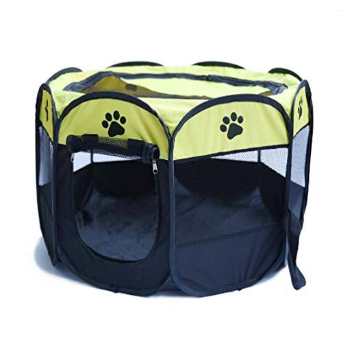 BACKZY MXJP Hundehütte Faltendes Haustier Kleines Tragbares Zelt Spielzaun Hund Katze Zaun Käfig Welpen Zwinger Großer Raum Faltbares Sportspiel Indoor Outdoor