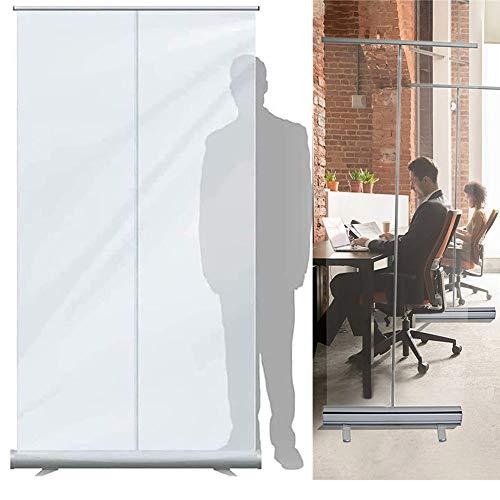 YCMY Mampara Protector Mostrador Metacrilato, Mampara Protectora Portátil, Protector De Estornudo, Divisor Pantalla para Oficina con Estable Y Resistente, (Size : 120 x 200cm)