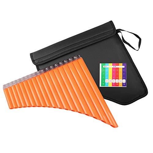 Mr.Power Panflöte 18 Pfeifen C Key Panflöte Musik Blasinstrument & Tasche für Anfänger Schüler