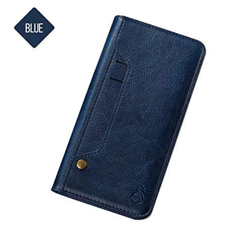 Adecuado para iPhone7 / 8/9 / plus / X XS / XS Max / XR flip, ranura para tarjeta interna y externa, funda para teléfono. Funda para smartphone Samsung Galaxy S8 + / s8 / Note 8 versátil y elegante