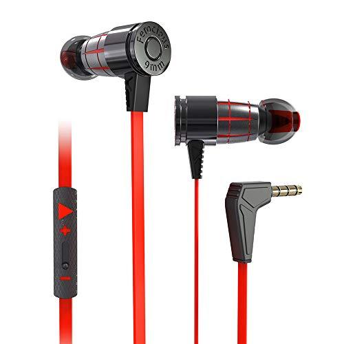 Auriculares Gaming, Auriculares In Ear estéreo Graves Super Bajos cómodos Auriculares de Metal Llamada de voz clara Cancelación de ruido Auriculares de absorción magnética para reproductores iPhone