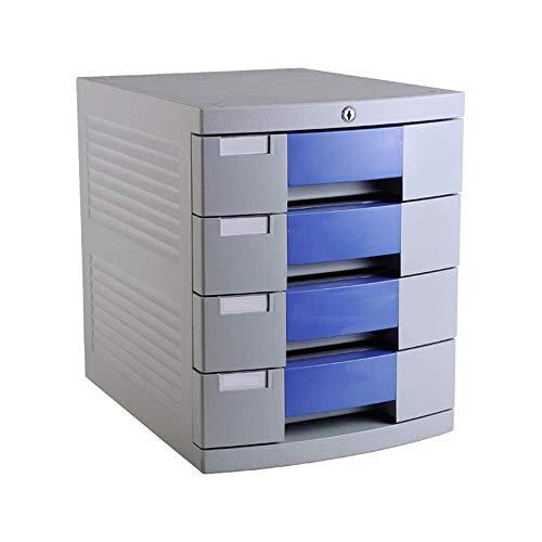 IREANJ Almacenamiento de escritorio de La presentación de una cajonera de 4 capas con archivo de bloqueo de escritorio Gabinete Acabado del gabinete de datos archivador gabinete Gabinete de almacenami