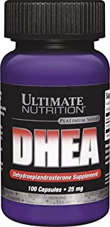 Ultimate Nutrition DHEA-Dehydroepiandrosterone Capsules, 25 mg, 100-Count Bottles (Pack of 2)