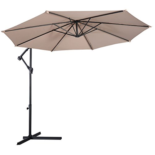 Tangkula Patio Umbrella, 10 ft