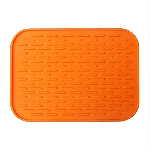 WUBS PlacematAlfombrilla antideslizante resistente al calor estera de copa Azul Mantel posavasos Mantel estante de silicona accesorios de cocina Oranje