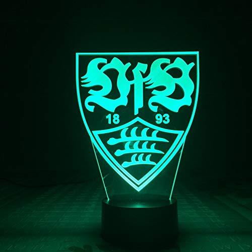 Led Nachtlicht 3D Kinder Eule Illusion, Bundesliga Vfb Stuttgart Fan Memorabilia, 7 Farbwechsel Badminton 3D Visual Usb Touch Tischleuchte Vision Stereo