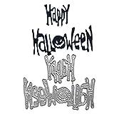 Happy Halloween Stencil DIY Scrapbooking Album Timbro goffratura