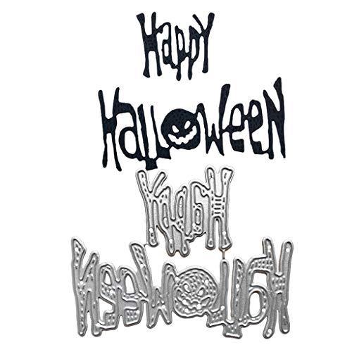 Plantillas de metal para hacer diseños de Halloween y hacer scrapbooking de Vivianu, para álbum de fotos, tarjetas de papel, artesanía.