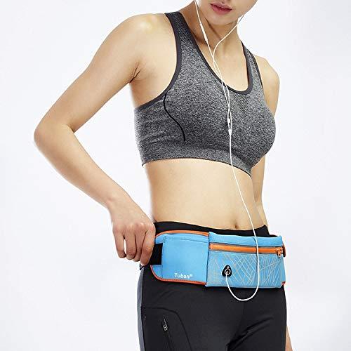Finghuin Outdoor sporten, sport rugzak, sport helm Trendy Grote Capaciteit Outdoor Sport Joggen Gym Taille Pack(Zwart)