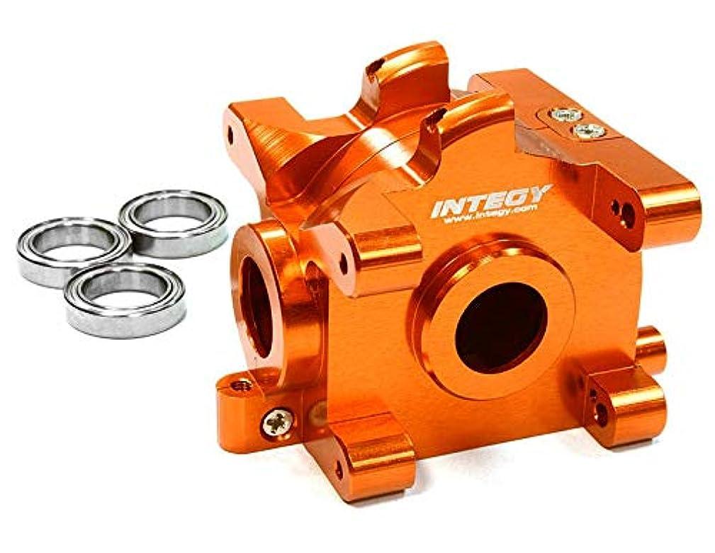 Integy RC Model Hop-ups C26305ORANGE Billet Machined Gear Box for HPI 1/10 Scale E10 On-Road