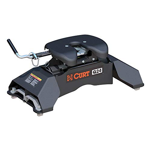 CURT 16037 Q24 5th Wheel Hitch, 24,000 lbs, Select Ford F-250, F-350, F-450, 8-Foot Bed Puck System