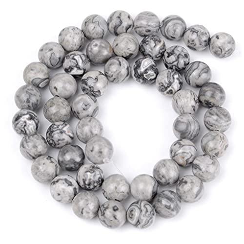 Cuentas de piedra sueltas para hacer joyas, pulsera de 12 mm, 29 a 30 unidades