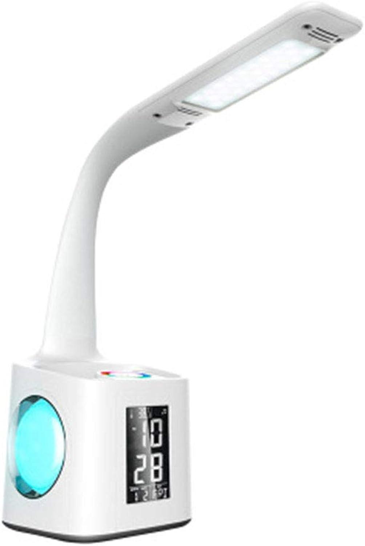 JIANG Tischlampe, LED-Augenschutz Tischlampe Stifthalter Kalender, Bunte Tischlampe, Farbe verdunkeln, Schüler Lernen Leselampe