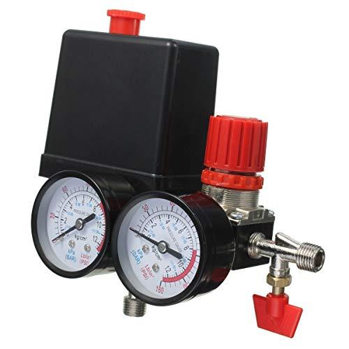 Monland 240V 180PSI Luft Kompressor 12 Bar Druck T Ventil Schalter Manifold Relief Regulator Manometer