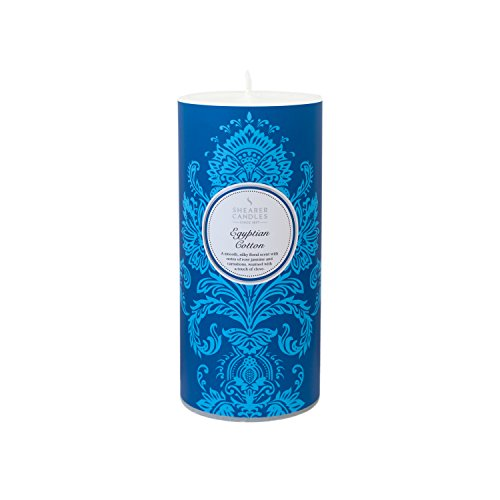 Shearer Candles Egyptian Cotton Scented 6 inch Pillar Candle - White